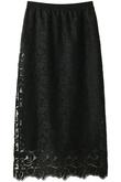 リーフ柄刺繍レースタイトスカート The Virgnia