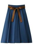 フェイクスエードリボン付フレアスカート The Virgnia