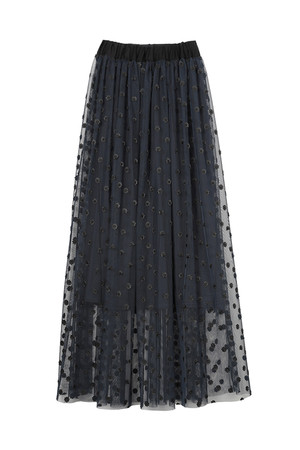 カットワーク刺繍チュールスカート ザ ヴァージニア/The Virgnia