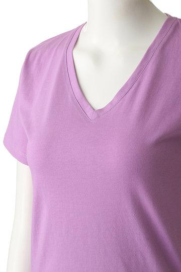 ザ ヴァージニア/The VirgniaのアメリカコットンVネックTシャツ(オフホワイト/8069201)