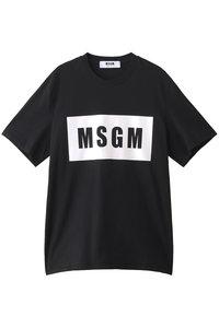 30%OFF!<ELLE SHOP>メンズ(MENS)パネルロゴTシャツ ブラック画像