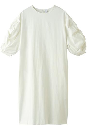 08sircus 08サーカス コットンクレープウィーブドレス オフホワイト