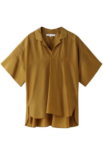 SALE 【60%OFF】 08sircus 08サーカス キュプラシルクタフタシャツカラートップ ゴールデンブラウン