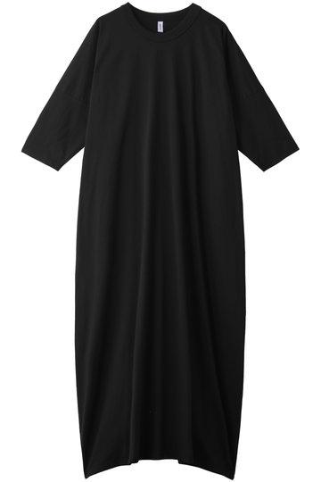 08sircus 08サーカス コンパクトジャージーラウンドネックドレス ブラック