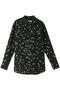 SLIM SIGNATURE スタープリントシルクシャツ エキップモン/EQUIPMENT ブラック