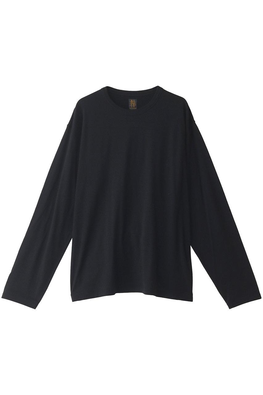 バトナー/BATONERの【MEN】ウォッシャブルウール ロングスリーブTシャツ(ブラック/BN-21SM-033)