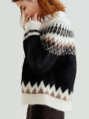 【予約販売】モヘアノルディックセーター