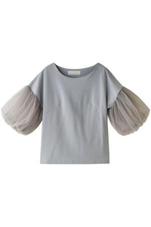 チュールスリーブドレスTシャツ