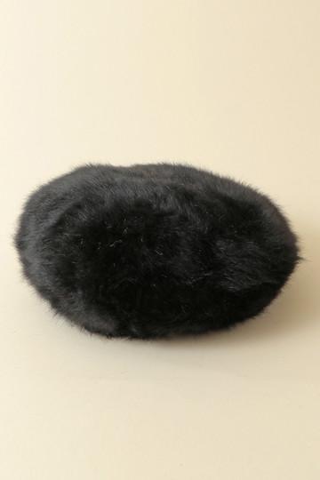 [31 Sons de mode トランテアン ソン ドゥ モード] アンゴラベレー帽 ブラック