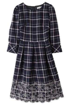 【予約販売】裾刺繍タータンワンピース トランテアン ソン ドゥ モード/31 Sons de mode