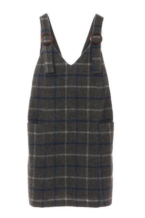 ウールシャギーチェックジャンパースカート