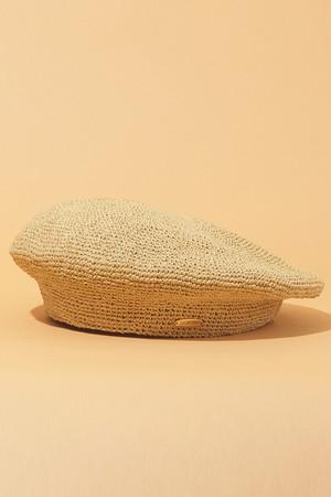 【予約販売】ペーパー手編みベレー帽