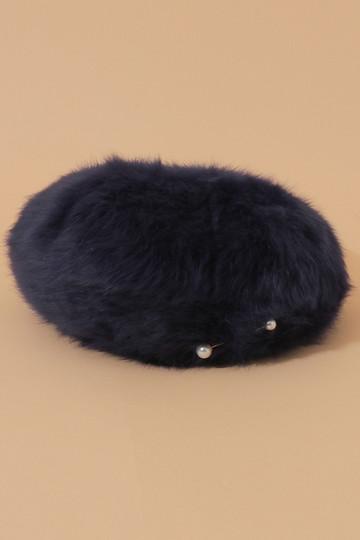 SALE 【40%OFF】 [31 Sons de mode トランテアン ソン ドゥ モード] パールピン付アンゴラベレー帽 ネイビー
