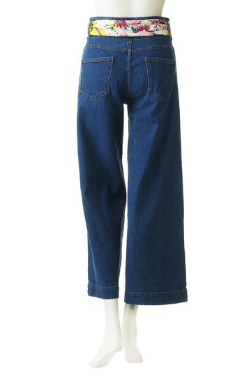 トランテアン ソン ドゥ モード/31 Sons de modeのスカーフベルトデニムワイドパンツ(ブルー/0049150)