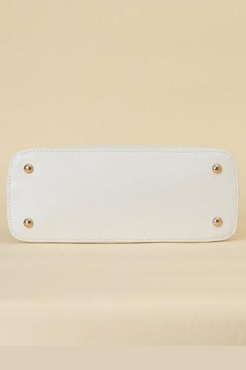 トランテアン ソン ドゥ モード/31 Sons de modeのスカーフチャーム付ラウンドバッグ(ホワイト/0109110)