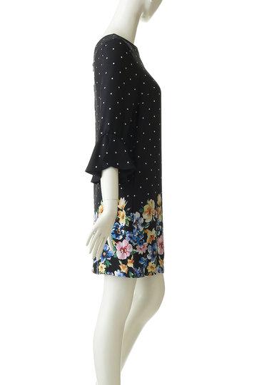 トランテアン ソン ドゥ モード/31 Sons de modeのパネルドット花柄ワンピース(オフホワイト/0079100)