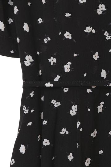トランテアン ソン ドゥ モード/31 Sons de modeの単色小花柄ミディ丈ワンピース(ブラック/0079109)