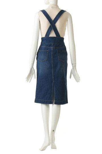 トランテアン ソン ドゥ モード/31 Sons de modeのサスペンダー付きデニムスカート(ブルー/0039151)