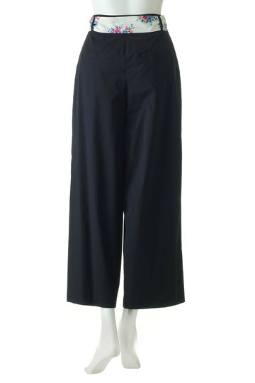 トランテアン ソン ドゥ モード/31 Sons de modeのスカーフ付きワイドパンツ(ネイビー/0049113)
