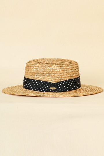トランテアン ソン ドゥ モード/31 Sons de modeの柄リボンカンカン帽(ベージュ/0099148)