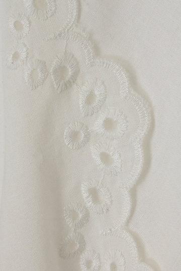 トランテアン ソン ドゥ モード/31 Sons de modeのリネンライク スカラップ刺繍ブラウス(ブラウン/0019203)