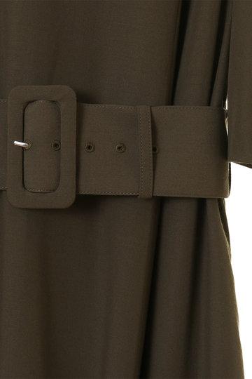 トランテアン ソン ドゥ モード/31 Sons de modeのテントシルエットベルト付シャツワンピース(カーキグリーン/0079304)
