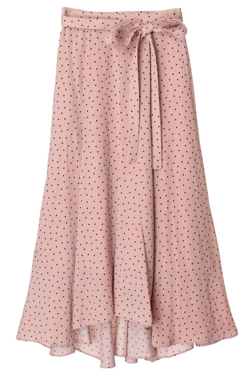 トランテアン ソン ドゥ モード/31 Sons de modeのドットサテンフィッシュテールスカート(ピンク/0039356)