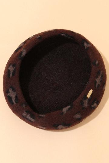 トランテアン ソン ドゥ モード/31 Sons de modeのレオパード柄ベレー帽(ブラウン/0099302)