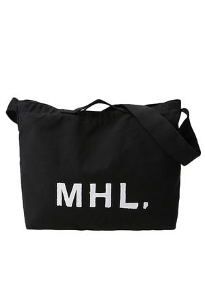 【MHL.】コットンロゴショルダーバッグ