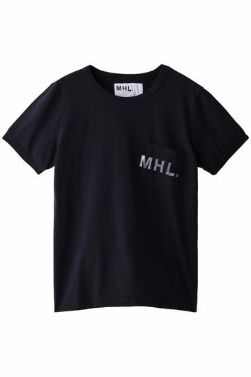 MARGARET HOWELL マーガレット・ハウエル 【MHL.】プリントロゴカットソー ネイビー