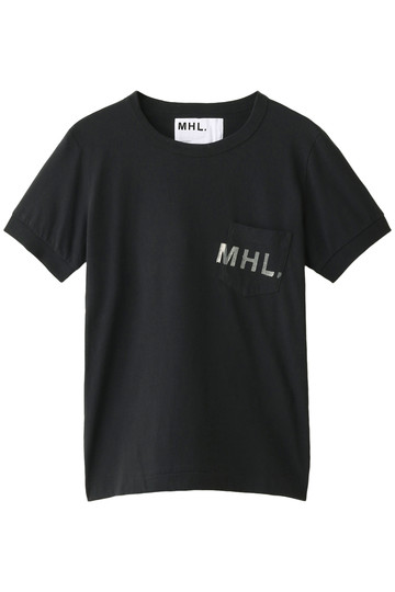 MARGARET HOWELL マーガレット・ハウエル 【MHL.】プリントロゴTシャツ ブラック