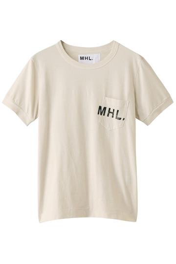 MARGARET HOWELL マーガレット・ハウエル 【MHL.】プリントロゴTシャツ アイボリー