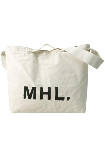 MARGARET HOWELL マーガレット・ハウエル 【MHL.】プリントロゴバッグ ベージュ