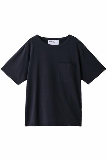 MARGARET HOWELL マーガレット・ハウエル 【MHL.】コットンポケットTシャツ ネイビー