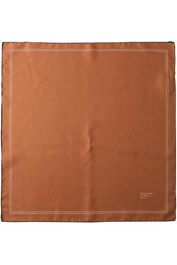 マーガレット・ハウエル/MARGARET HOWELLのシルクスカーフ(ブラウン/578-8278008)