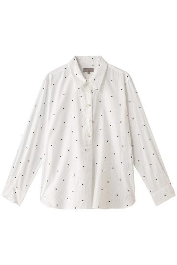 マーガレット・ハウエル/MARGARET HOWELLのスポットプリントコットンシャツ(ホワイト/578-8253009)