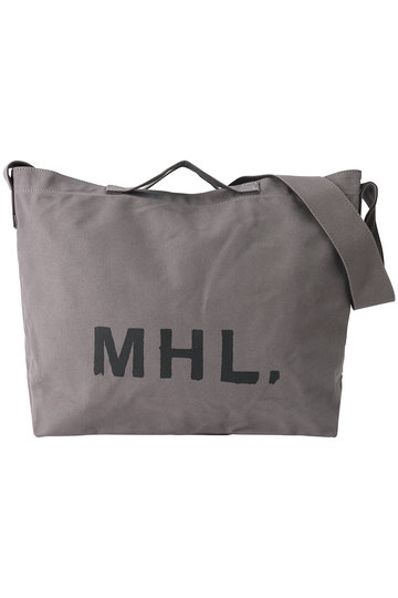 <ELLE SHOP>【MHL.】キャンバスロゴバッグ グレー