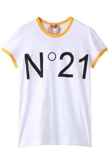 N°21 ヌメロ ヴェントゥーノ ロゴTシャツ 白