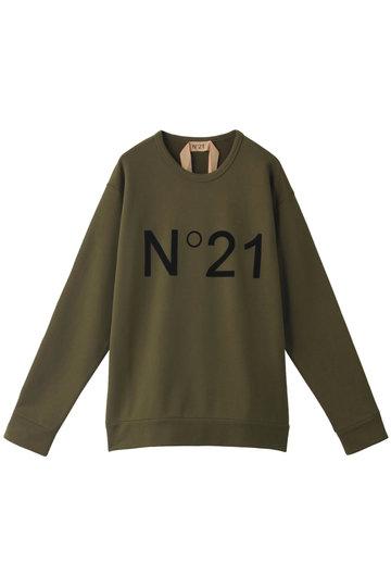 N°21 ヌメロ ヴェントゥーノ ロゴプルオーバー カーキ