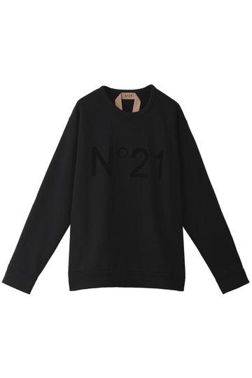 N°21 ヌメロ ヴェントゥーノ ロゴプルオーバー ブラック