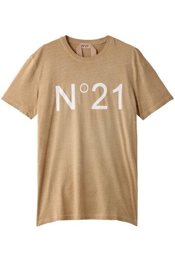 N°21 ヌメロ ヴェントゥーノ ロゴTシャツ ベージュ
