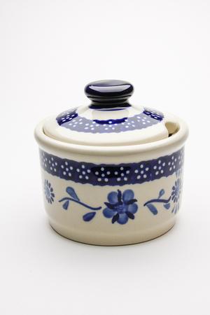 シュガーポット ポーリッシュポタリー/Polish Pottery