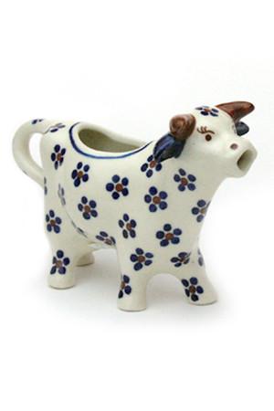 牛のクリーマー ポーリッシュポタリー/Polish Pottery