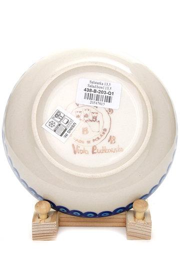 ポーリッシュポタリー/Polish Potteryの銘々皿(ブルー/V438-B203)