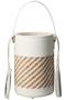 MORES筒型ハンドバッグ アデル ビジュー/ADER.bijoux ホワイト