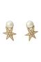 【予約販売】STAR パールピアス アデル ビジュー/ADER.bijoux ゴールド