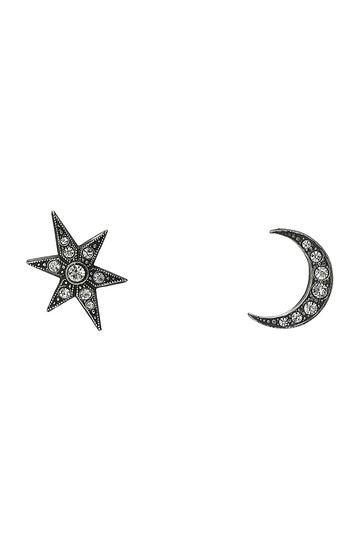 アデル ビジュー/ADER.bijouxのMOON&STAR ピアス(シルバー/RE-710P)