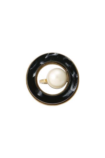アデル ビジュー/ADER.bijouxのRETRO ラウンドリング(ブラック/RR-1101)