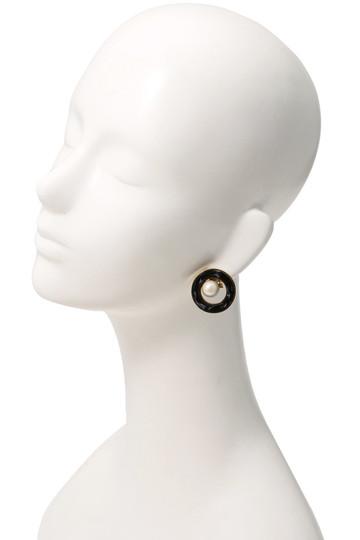 アデル ビジュー/ADER.bijouxのRETRO パールイヤリング(ブラック×イエロー/RE-1101E)