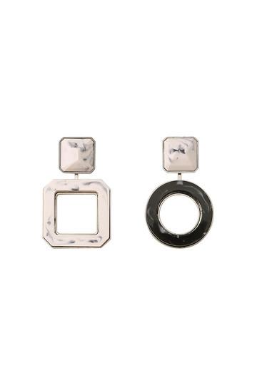 アデル ビジュー/ADER.bijouxのRETRO 2way ピアス(ピンク×ブラック/RE-1102)